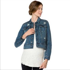 A Pea in the Pod NWOT distressed denim jacket